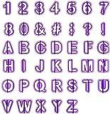 LIHAO 40tlg Ausstecher Buchstaben Fondant Ausstechformen Alphabet Zahlen Zeichensetzung Tortendeko