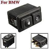 WANGLEISCC Autofensterschalter Für BMW E23 E24 E28 E30 BW102 613 113 812 05,Schwarz...