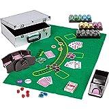 Maxstore Ultimate Pokerset Deluxe, 300er BZW. 600er Edition, 12 Gramm METALLKERN Laserchips, Poker...