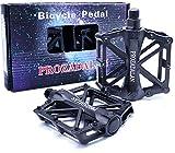 PROZADALAN Fahrradpedale, Fahrrad Pedalen 9/16 Zoll Achse CNC Aluminium Alu Mit Abgedichtete...
