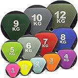 Medizinball farbig - Gummimedizinball in 1 kg, 1,5kg, 2kg, 3kg, 4kg, 5kg, 6kg, 7kg, 8kg, 9kg, 10kg,...