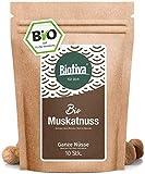 Muskatnuss Bio 10 - 12 Stück, 70g - Ganze Muskatnüsse - Handverlesen, Abgefüllt und kontrolliert...