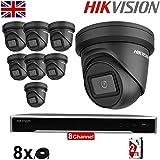 Hikvision DS-2CD2385G1-I DS-7608NI-K2 Überwachungskameras, 8 x 8 MP, Dunkelfighter Turret, 30 m, IR...