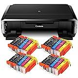 Canon Pixma iP7250 mit WLAN, Fotodrucker und CD-Bedruck, Auto Duplex Druck Tintenstrahldrucker + USB...