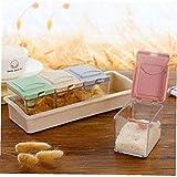 Amoyer Gewrz-glser Container 4pcs Multifunktionale Zucker Salz Lagerung Behlter-Kasten Praktische...