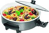 Clatronic PP 3570 C Partypfanne zum Kochen, Braten, Dünsten, Auftauen und Warmhalten, 1550 Watt