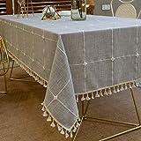 Pahajim Karierte Tischdecke Abwaschbar Baumwolle und Leinen Tischtuch Couchtisch dekorative...
