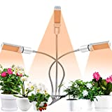 Coulax Pflanzenlampe Pflanzenlicht Vollspektrum 60W 132 LEDs Grow Lampe 3 Arten Lichtmodus 5 Stufen...