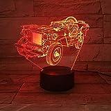Traktor 3D Nachtlicht Farbe ndern Led Buch Lampe Innen Dekorative Schreibtisch Beleuchtung Kinder...