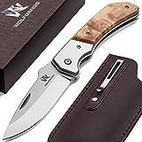 Wolfgangs MUTATIO Zweihand Klappmesser aus feinstem 440C Stahl - Outdoor Messer mit hochwertigem...
