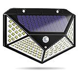 BXJJJK 100 LED Solar Wandleuchte Vier Seiten Glühen Solarlicht Menschlicher Körper Induktion...