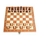 Mjd Schachspiel Schach International Chess Faltbare Brett Schach-Spiel Reisen Tragbare Schachspiel...