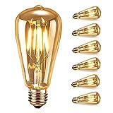 Edison Vintage Glühbirne, Samione Warmweiß E27 LED Lampe Retro Glühbirne Antike Beleuchtung,...