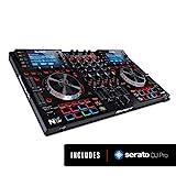 Numark NVII - intelligenter 4-Deck Dual-Display-DJ-Controller fr Serato DJ (mit dabei) mit...