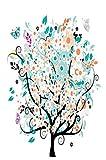 WOZUIBAN Puzzle 1500 Teile Adult Children Puzzle Festival Geschenk DIY Orange Blht Lebensbaum...