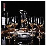 ANXI Glass Decanter 6 Whiskygläser Set 7 Stück Kristall Whisky Set (Color : 4cup)