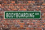 aqf527907 Bodyboarding Geschenk Bodyboarding Schild Bodyboarding Fan Surfen on Bodyboard Custom...