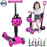 Birtech Kinderroller Kinderscooter Dreirad Scooter 5 in 1 Kinderscooter mit Hhenverstellbarer...