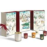 Yankee Candle Adventskalender 2020 in Buchform | Kerzen mit Weihnachtsduft | 12 Votivkerzen, 12...