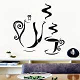 BailongXiao Kreative Kaffee dekorative wandaufkleber küche Zimmer wasserdicht Haus Dekoration...