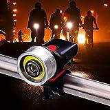 No logo G.Y.Xuan Fahrrad-Scheinwerfer, USB Charge Frontscheinwerfer Schwarz Silver Mountain Bike...
