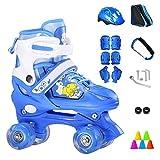 VSander Rollschuhe Verstellbare Zweireihige 4-Rad-Kinder Inline-Skates Roller for Anfänger 2-15...