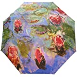 Monet Painting Winddichte Regenschirme Auto Open Close 3 Faltbarer Sonnenschirm-I2-383