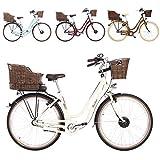 Fischer E-Bike Retro ER 1804, verschiedene Farben, 28 Zoll, RH 48 cm, Vorderradmotor 20 Nm, 36 V...
