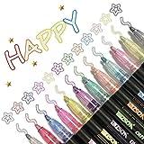 Farbstifte, Outline Stift, 12 Farben Double Line Outline Glitzer Stifte Farbstifte Stationery, Pen...