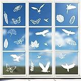 Hianjoo vogelaufkleber Fenster Aufkleber Wiederverwendbar, Vogelschutz Aufkleber Anti-Kollision...