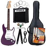 Rocktile Banger's Pack Komplettset E-Gitarre Violett (Verstrker, Tremolo, Tasche, Kabel, Gurt,...