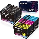 Hicorch Ersatz für Epson T1291 T1292 T1293 T1294 T1295 Druckerpatronen Kompatible mit Epson...