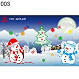 display08 Fenster-Aufkleber für Weihnachten, Glas, Schneemann, Weihnachtsmann, statisch, haftend...