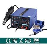 Lötkolben heißluft Station 853D 2A USB Digital Lötstation Heißluftpistole 3 in 1 SMD Rework 2A