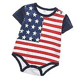 Honestyi BabyBekleidung Baby Strampler Unisex Kinder Kleinkind Neugeborenes Stern Streifen Patchwork...