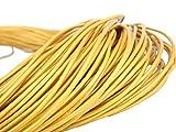 esnado Lederschnur Rund 2 mm. Gold - 30 Meter