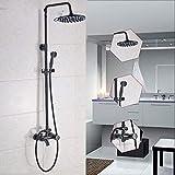 QLCY-78OI Duschen Duschöl eingerieben Bronze Dusche Wasserhahn Set der Wand befestigte...