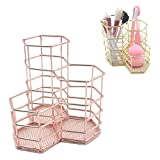 KOBWA Bleistifthalter Topf, Hohl Rose Muster Topf Mesh Pen Cup Container, Make-up Pinsel Ablagekorb...