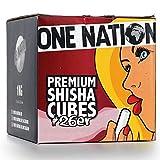 ONE NATION | 4 KG | Shisha Kohle Naturkohle aus 100% Kokosnuss - bis zu 120 Minuten Brenndauer |...
