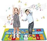 WFGZQ Tanzmatte, Kinder Musikmatte, Klaviermatte Mit 8 Instrumenten, Klaviertastatur Musik Playmat...