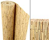 bambus-discount.com Schilfrohrmatten Premium Beach, 180 hoch x 600cm breit, EIN Produkt Sichtschutz...