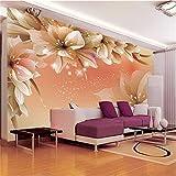 Dengjiam 3d fototapete moderne blume wand wohnzimmer sofa tv hintergrund vlies schlafzimmer tapete