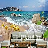 s Romantische schöne Küstenlandschaft Foto Wohnzimmer Sofa Hotel Hintergrund Wandmalerei...