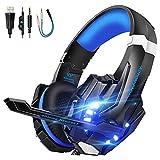 VTAKOL Gaming headset für PS4, 3.5mm Surround Sound Kabelgebundenes Gaming Kopfhörer mit Mikrofon,...
