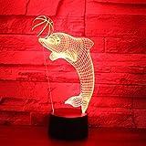 XKALXO 3D-Nachtlicht Led-Nachtlicht Dolphin Ball 16-Farben-Touch-Fernbedienung Licht Home Decoration...