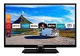 Telefunken XF22G501V 55 cm (22 Zoll) Fernseher (Full HD, Triple Tuner, Smart TV, Prime Video, 12 V,...
