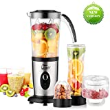 Smoothie Maker Uten Mixer Edelstahl Standmixer 5 in 1 Multifunktion Blender, Entsafter, Fleisch...