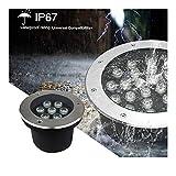LED Bodeneinbauleuchte Vergrabene Lampe IP68 Wasserdicht AC85-265V Eingebettet Scheinwerfer Garten...