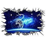 The Art Magic 3D-Wandaufkleber, Motiv Milchstraße, Blau / Violett Galaxy Satellite
