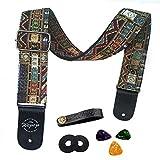 Gitarrengurt Vintager gesponnener Art-justierbarer akustischer elektrischer Gitarren-Ba-Bgel mit...
